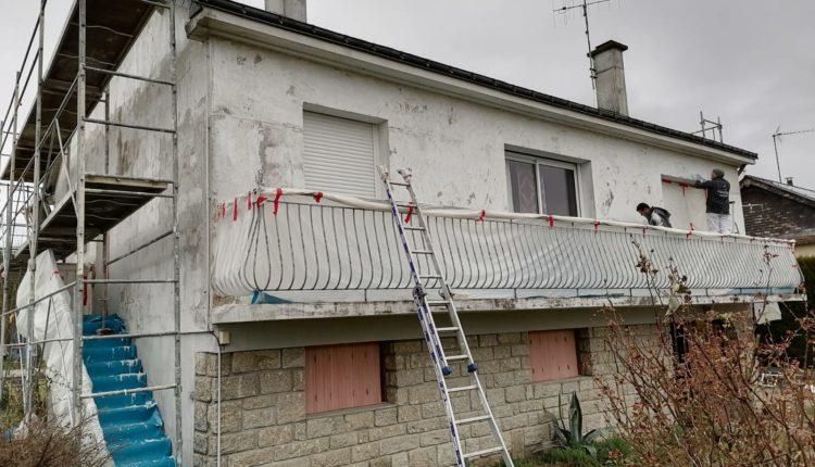 ravalement de façade en cours à Angers