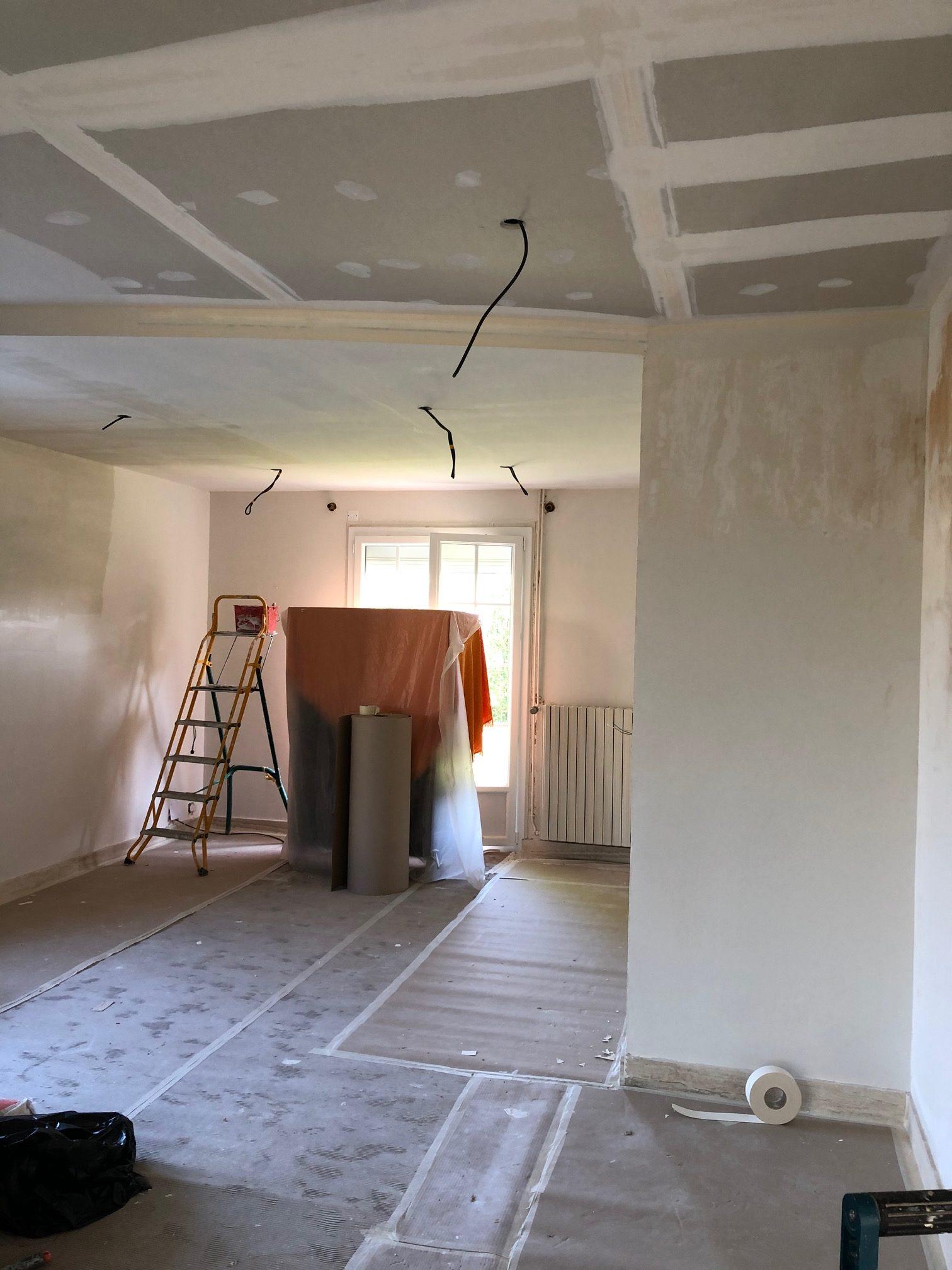 travaux de plâtrerie par le platrier peintre Fouillet à Angers
